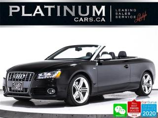 Used 2010 Audi S5 3.0T quattro, CONVERTIBLE, NAV, CAM, BT for sale in Toronto, ON