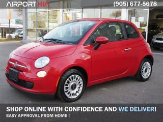 Used 2013 Fiat 500 Pop Manual / No Accident/ Power package/Price shown for Uncertified / Get this vehicle fully safety for only $995 + HST for sale in Mississauga, ON