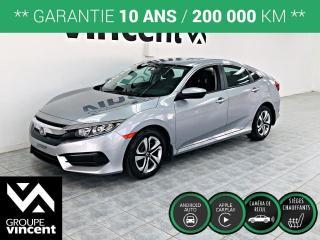 Used 2016 Honda Civic LX ** GARANTIE 10 ANS ** La nouvelle génération de Civic à prix très abordable! for sale in Shawinigan, QC