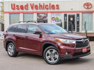 Used 2016 Toyota Highlander LIMITED GPS PANO-ROOF ALLOYS LEATHER CAMERA for sale in North York, ON
