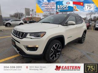 New 2021 Jeep Compass Limited | Pano Sunroof | Blind-Spot Det. | Wi-Fi Hot Spot | for sale in Winnipeg, MB