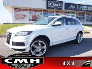 Used 2014 Audi Q7 3.0T quattro Sport  NAV CAM LEATH PANO CLD-SEATS for sale in St. Catharines, ON