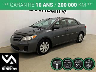 Used 2011 Toyota Corolla CE CLIMATISEUR ** GARANTIE 10 ANS ** Fiable, économique et prix abordable! for sale in Shawinigan, QC