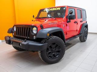 Used 2017 Jeep Wrangler WILLYS WHEELER 4X4 *BLUETOOTH* GR. REMORQ *PROMO for sale in Mirabel, QC