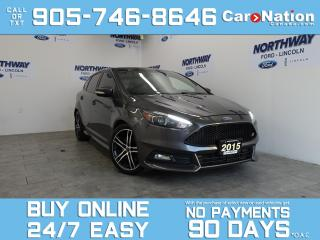 Used 2015 Ford Focus ST | LEATHER | SUNROOF | NAV | RECARO SEATS for sale in Brantford, ON