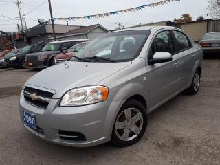 Used 2007 Chevrolet Aveo LS Certified,Low Kms! for sale in Oshawa, ON