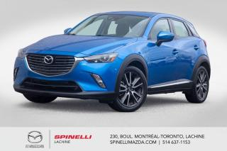 Used 2016 Mazda CX-3 GT AWD CUIR SIEGES CHAUFFANTS  BLUETOOTH Mazda CX-3 GT AWD 2016 for sale in Lachine, QC