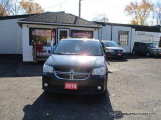 Used 2016 Dodge Grand Caravan LOADED CREW EDITION 7 PASSENGER 3.6L - V6.. CAPTAINS.. FULL STOW-N-GO.. NAVIGATION.. LEATHER.. HEATED SEATS.. BACK-UP CAMERA.. POWER SLIDING DOORS.. for sale in Bradford, ON