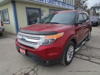 Used 2015 Ford Explorer FOUR-WHEEL DRIVE XLT EDITION 7 PASSENGER 3.5L - V6.. BENCH & THIRD ROW.. LEATHER.. HEATED SEATS.. NAVIGATION.. DUAL SUNROOF.. BACK-UP CAMERA.. for sale in Bradford, ON
