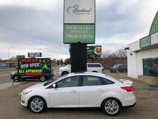 Used 2015 Ford Focus Titanium LEATHER | SUNROOF | BACK UP CAMERA-USED EDMONTON FORD DEALER for sale in Edmonton, AB