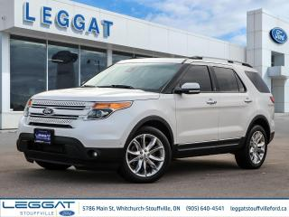 Used 2015 Ford Explorer Limited - LOADED! LEATHER, ROOF, NAV, BLIS, 2ND ROW CAPTAINS - for sale in Stouffville, ON