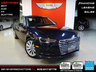 Used 2017 Audi A4 38K | QUATTRO | ACCIDENT FREE | FINANCE @ 4.65% for sale in Oakville, ON