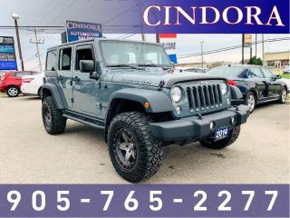 Used 2014 Jeep Wrangler Unlimited Rubicon, 5 speed, Clean Carfax for sale in Caledonia, ON