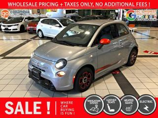 Used 2017 Fiat 500 E 500e - No Accdient / Nav / No Dealer Fees / Sunroof for sale in Richmond, BC