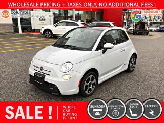 Used 2017 Fiat 500 E 500e - Accident Free / Nav / Sunroof for sale in Richmond, BC