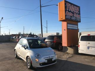 Used 2012 Fiat 500 Lounge**RED LEATHER**SUNROOF**CERTIFIED for sale in London, ON