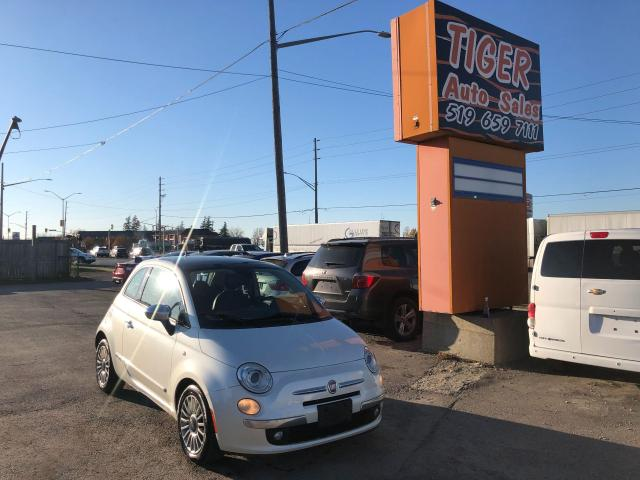 2012 Fiat 500 Lounge**RED LEATHER**SUNROOF**CERTIFIED