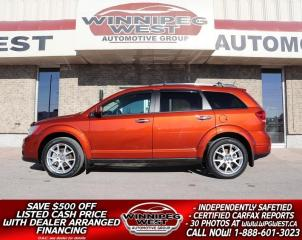 Used 2013 Dodge Journey R/T AWD, HTD LEATHER, LOADED FLAWLESS LOCAL TRADE for sale in Headingley, MB