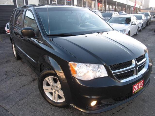 2015 Dodge Grand Caravan Crew, LEATHER, NAVIGATION, B-CAM, SUNROOF! PWR SLIDING DOORS, DUEL T.V/DVD