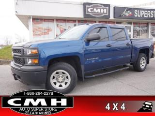 Used 2015 Chevrolet Silverado 1500 WT  CREW V6 4X4 PWR-GROUP for sale in St. Catharines, ON