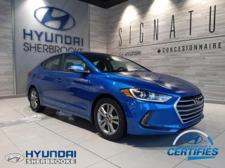 Used 2018 Hyundai Elantra GL CAMERA+BANCS/VOLANT CHAUF ANGLES-MORT for sale in Sherbrooke, QC