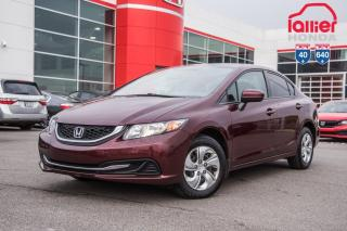 Used 2015 Honda Civic GARANTIE LALLIER 10ANS/200,000 KILOMETRES INCLUSE* LE PLUS GRAND CHOIX DE CIVIC USAGEES AU QUEBEC for sale in Terrebonne, QC