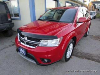 Used 2015 Dodge Journey FAMILY MOVING SXT MODEL 7 PASSENGER 3.6L - V6.. BENCH & THIRD ROW.. TOUCH SCREEN DISPLAY.. CD/AUX/USB INPUT.. KEYLESS ENTRY & START.. for sale in Bradford, ON