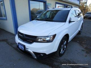 Used 2015 Dodge Journey FAMILY MOVING CROSSROADS EDTION 7 PASSENGER 3.6L - V6.. BENCH & THIRD ROW.. LEATHER.. HEATED SEATS.. BACK-UP CAMERA.. BLUETOOTH SYSTEM.. for sale in Bradford, ON
