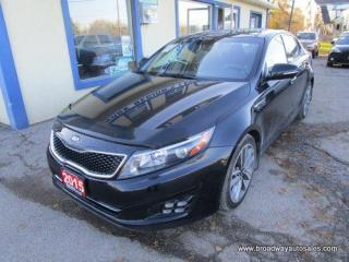 Used 2015 Kia Optima LOADED SX-TGDI EDITION 5 PASSENGER 2.0L - TURBO.. NAVIGATION.. LEATHER.. HEATED/AC SEATS.. BACK-UP CAMERA.. POWER SUNROOF.. BLUETOOTH SYSTEM.. for sale in Bradford, ON