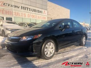 Used 2012 Honda Civic LX+AIR CLIMATISÉ+AUTOMATIQUE+BLUETOOTH+GR. ÉLECTRI for sale in St-Hubert, QC