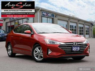 Used 2019 Hyundai Elantra Preferred w/Sun & Safety Package ONLY 38K! **SUNROOF**BACK-UP CAMERA**CLN CARPROOF* for sale in Scarborough, ON