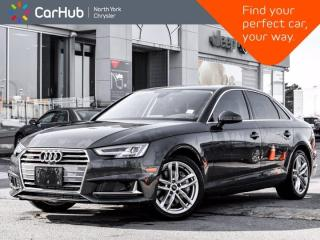 Used 2019 Audi A4 Technik 45 TFSI Quattro Bang & Olufsen Sunroof Navigation for sale in Thornhill, ON