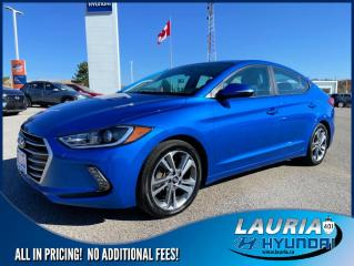 Used 2017 Hyundai Elantra GLS Auto - Low kms for sale in Port Hope, ON