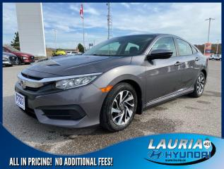Used 2016 Honda Civic Sedan EX Auto - LOW KMS for sale in Port Hope, ON