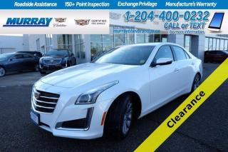 Used 2016 Cadillac CTS Sedan *New Tires*Cadillac Certifed W/Warr* Heated&Cooled for sale in Brandon, MB