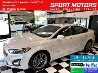 Used 2020 Ford Fusion Hybrid Titanium+GPS+Cooled Seats+Tech PKG+ACCIDENT FREE for sale in London, ON
