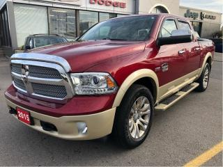 Used 2015 RAM 1500 Longhorn Crew 4x4 V8 w/Rambox, Sunroof, Air-Ride S for sale in Hamilton, ON