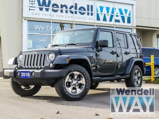 Used 2018 Jeep Wrangler Unlimited Sahara Nav/Dual Top/Tow for sale in Kitchener, ON