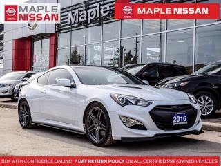 Used 2016 Hyundai Genesis Coupe Genesis Coupe R-Spec Manual Leather Alloys for sale in Maple, ON