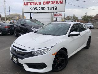 Used 2017 Honda Civic Sedan EX Prl White Navigation/Sunroof/Heated Seats/Camera Side for sale in Mississauga, ON