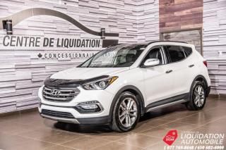 Used 2017 Hyundai Santa Fe Sport 2.0T AWD+TOIT+VOL/SIÈGES CHAUFFANTS+CUIR+CAM for sale in Laval, QC