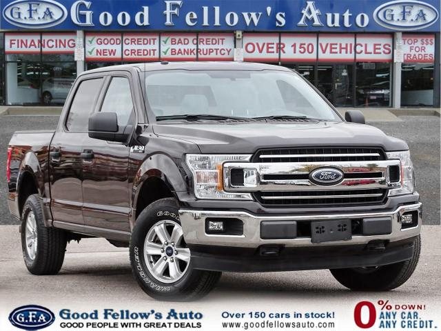 2018 Ford F-150 XLT SUPERCREW,6 PASS, 3.3L 6CYL, 4WD, BACKUP CAM