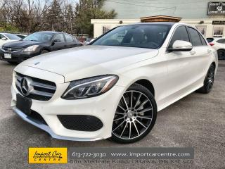 Used 2015 Mercedes-Benz C-Class LEATHER  PANO ROOF  NAVI  BLIS  BURMESTER SOUND for sale in Ottawa, ON