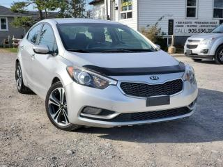 Used 2015 Kia Forte No Accidents SX Sunroof Navi Leather Backup Cam Bluetooth for sale in Sutton, ON