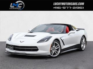 Used 2015 Chevrolet Corvette STINGRAY Z51 W/3LT-RED LEATHER-NAV-HUD-CAMERA-TARGA for sale in Toronto, ON