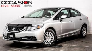 Used 2013 Honda Civic LX BLUETOOTH+A/C+GR.ELECTRIQUE for sale in Boisbriand, QC