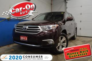 Used 2013 Toyota Highlander LIMITED 7 PASS LEATHER | NAVIGATION for sale in Ottawa, ON