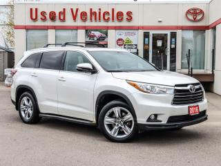 Used 2016 Toyota Highlander LTD ROOF ALLOY LEATHER START for sale in North York, ON