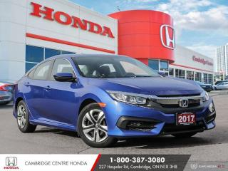 Used 2017 Honda Civic LX APPLE CARPLAY™ & ANDROID AUTO™ | REARVIEW CAMERA | HEATED SEATS for sale in Cambridge, ON