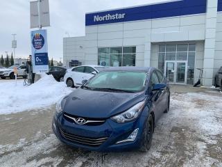 Used 2016 Hyundai Elantra LTD NAV/LEATHER/SUNROOF/HEATEDSEATS/BACKUPCAM for sale in Edmonton, AB